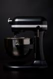 黑色搅拌机端银视图 图库摄影