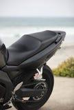 黑色摩托车零件 库存图片
