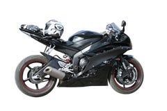黑色摩托车 免版税库存图片