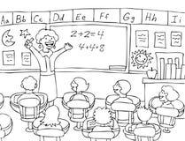 黑色数学老师白色 库存照片