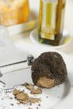 黑色新鲜的块菌 免版税库存照片