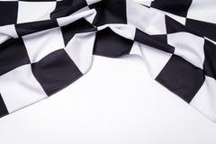 黑色方格的标志白色 复制空间 库存照片