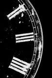 黑色时钟白色 免版税库存图片