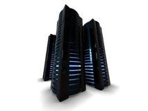 黑色服务器塔 免版税库存图片