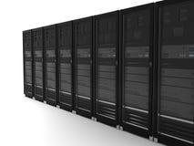 黑色服务器 库存例证