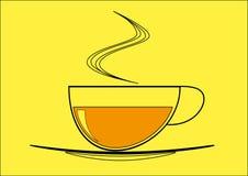 黑色杯子早晨茶 库存图片