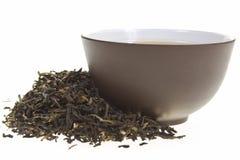 黑色杯子茶 免版税库存图片
