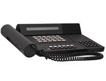 黑色查出的办公室电话系统葡萄酒 免版税库存图片