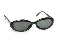 黑色查出的太阳镜 免版税库存图片