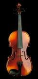 黑色查出的小提琴 免版税库存照片