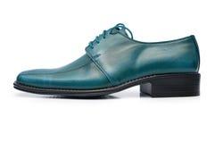 黑色查出的男性鞋子 免版税库存图片