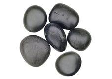 黑色查出空白温泉的石头 图库摄影