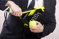 黑色标签桨比赛 免版税图库摄影