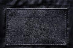 黑色标签皮革 图库摄影