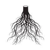 黑色根源树 也corel凹道例证向量 库存照片