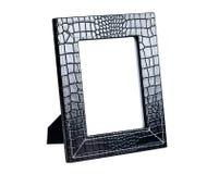 黑色框架皮革照片 库存图片