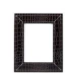 黑色框架皮革照片 图库摄影