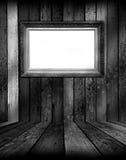 黑色框架空间白色 库存照片