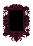 黑色框架粉红色滚动漩涡向量葡萄酒 库存图片