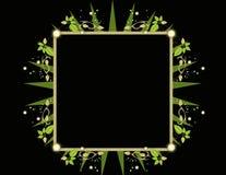 黑色框架绿色正方形 免版税图库摄影