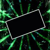 黑色框架绿色grunge 库存图片