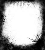 黑色框架grunge 免版税库存照片