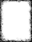 黑色框架grunge 库存例证