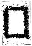 黑色框架grunge 免版税图库摄影