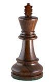 黑色棋国王部分 库存图片