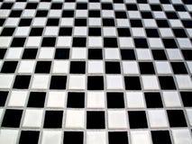 黑色棋盘白色 库存图片
