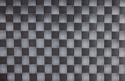 黑色棋盘织品纹理 免版税库存照片