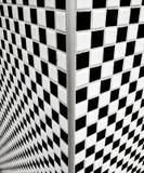 黑色棋盘铺磁砖白色 库存照片