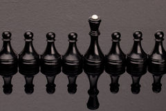 黑色棋 免版税库存图片