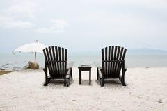 黑色椅子孪生 库存图片