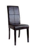 黑色椅子皮革 库存图片