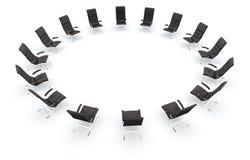 黑色椅子盘旋皮革 免版税图库摄影