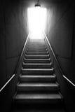 黑色楼梯白色 免版税库存图片