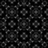 黑色模式无缝的墙纸白色 图库摄影