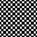 黑色模式无缝的白色 向量例证