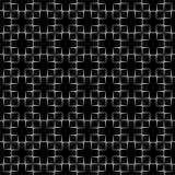 黑色模式无缝的白色 库存例证