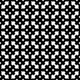 黑色模式无缝的白色 皇族释放例证