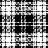 黑色模式格子花呢披肩白色 免版税库存图片