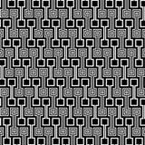 黑色模式正方形白色 免版税库存图片