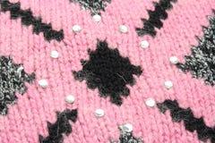 黑色模式粉红色毛线衣 库存照片