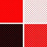 黑色模式pois红色无缝 免版税库存照片