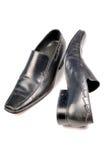 黑色正式鞋子 库存图片