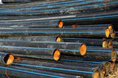 黑色气体堆管道 免版税库存图片
