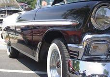 黑色汽车经典白色 免版税库存图片