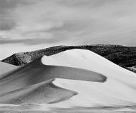 黑色沙丘沙子白色 库存图片