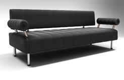 黑色沙发 免版税库存图片